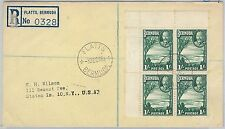 52297 -  BERMUDA -  POSTAL HISTORY: REGISTERED COVER to USA 1946