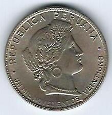 1921 Peru 20 Centavos Unc