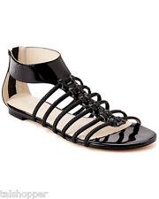 Donald J Pliner Torie Gladiator Sandals Shoes Flats Black Leather DJP NEW 7 $198