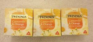 3 x 20  Twinings Warming Camomile & Orange Tea Bags