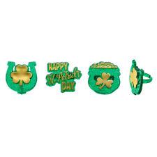 St Patrick's Day, Horseshoe, & Pot of Gold Cupcake Rings - 24 Rings