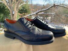 EASY SPIRIT Saddle Wingtip SOLID BLACK Oxfords Loafers Mens Shoes Sz 11 👣b7