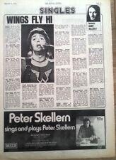 Paul MaCartney Wings 'hi hi hi' review 1972 UK ARTICLE / clipping