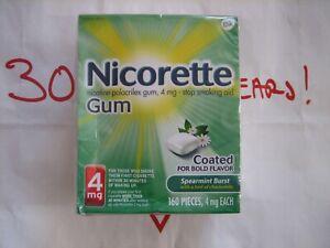 Nicorette Gum 4mg Spearmint Burst 160 Pieces Exp 05/2023 Sealed