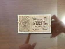 BANCONOTA 2 LIRE VITTORIO EMANUELE III 14 3 1920 NON COMUNE numismatica SABAUDA