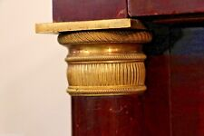 Antique FRENCH EMPIRE Mahogany CHEST drawers 1810 ormolu columns marble bronze