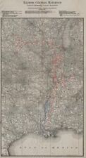 Illinois Central Yazoo-Mississipi Valley Indianapolis Ferrocarril del Sur 1907 Mapa