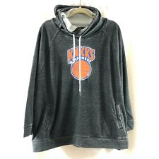 NBA New York Knicks Sweatshirt Harwood Classics Throwback Retro Gray 3X