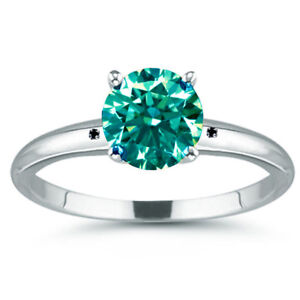 3.41 Ct Vvs1=NATURAL BLUE REAL MOISSANITE DIAMOND  925 Sterling SILVER RING