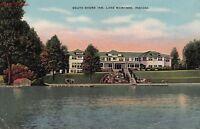 Postcard South Shore Inn Lake Wawasee Indiana IN