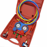 Air Conditioning AC Diagnostic  A/C Manifold Gauge Tool Set Refrigeration R-134A