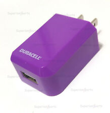 NEW Duracell Du1698 Usb Wall Charger 5v 1A Purple - 2014 Model - Bulk Packing