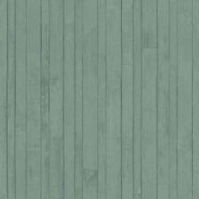 Rasch Textil Tapete 128840 Madera Aspecto Tablón de Verde Papel Pintado Fieltro