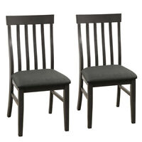 Set of 2 Wood Dining Chair High Back Upholstered Armless Side Chair Home Kitchen