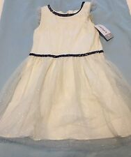 NWT CARTER'S Toddler Ivory Tiered Tulle Sleeveless Dress Size 3T