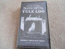 BLACK METAL YULE LOG Holiday Fireplace Video WEIRD CULT STRANGE VHS