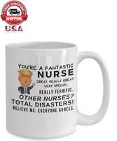 Gift for Nurse, Funny Donald Trump Coffee cup Graduation Gift RN Nurse Mug
