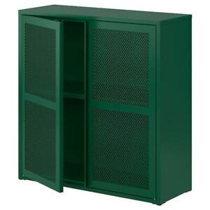 "IKEA IVAR Cabinet with doors, green mesh 31 1/2x32 5/8 "" NEW"