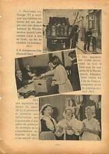 King George VI Windsor /Asnières-sur-Oise/Coiffes/ Jean Mermoz 1937 ILLUSTRATION