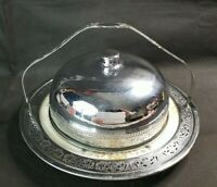 Vintage Forman Brothers Brooklyn Hall China Plate Metal Frame Silver Cover Lid