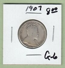 1907 Canadian 25 Cents Silver Coin - G-6