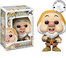 FIGURINE DISNEY SNOW WHITE BOBBLE HEAD POP N° 342 SNEEZY ATCHOUM avec protector