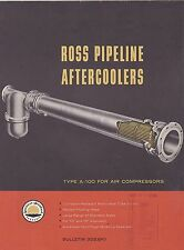 VINTAGE CATALOG #2807 - 1958 ROSS PIPELINE AFTERCOOLERS