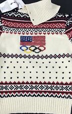 Ralph Lauren 2014 Sochi Olympic Closing Ceremony Girls Sweater USA Flag Nordic L