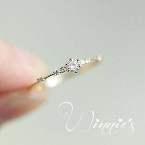 Dazzling Princess Cut White Sapphire 18K Yellow Gold Ring Wedding Jewelry Size 8
