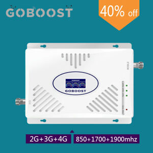 Signal Booster 2G 3G 4G 850/1700/1900mhz Tri B2 B4 B5 Amplifier For AT&T Verizon