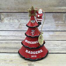 Danbury Mint 2010 Ncaa University Of Wisconsin Badgers Christmas Tree Ornament
