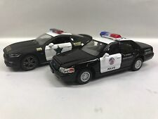 Mustang GT & Crown vitoria Police Car 1:38 KT5327-5386.DP Set of 2