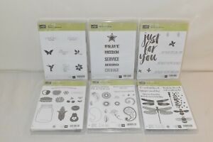 Lot of 6 Stampin Up Stamp Sets  - Misc. Themes