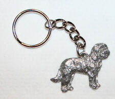 Goldendoodle Dog Fine Pewter Keychain Key Chain Ring Fob