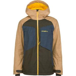 O'Neill Galaxy Snowboard Jacket, Men's Medium, Woodchip Brown New