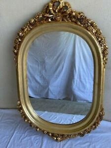 FRENCH BAROQUE VINTAGE WALL MIRROR WITH ROSES