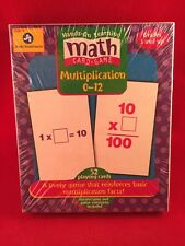 NEW 2000 HANDS-ON MATH CARD GAME MULTIPLICATION 0-12 Grades 3+ Factory Sealed!!!
