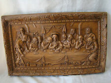 Vintage Resin Sculptural Last Supper Religious Wall Art Home Decor 201515