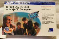 Vintage Brand New 3Com OfficeConnect 10/100 Lan Pc Card Xjack Model 3Cxsh572Bt