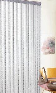 Braid String Window Door Curtains Panel Doorways Divider Fly Screen Curtain Grey