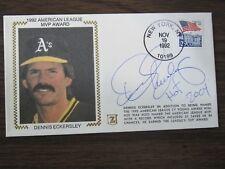 Dennis Eckersley Autograph 1992 AL MVP Z Silk Cachet Envelope Oakland A's
