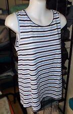 Womens Market & Spruce Kabira Cutout Back Linen/cotton Tank Top Medium  NWT