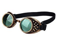 New Green Goggles Steampunk Glasses Vintage Retro Welding Punk Gothic Victorian