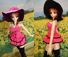1/3 Dollfie Dream Doll clothes DDDY Dress & Hat Outfit Set 74DY