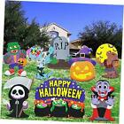 8 PCs Halloween Outdoor Decorations, Corrugate Yard Stake Signs for Lawn Yard