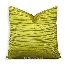 """Luxury Designer Lime Green Luxury 20"""" Fabric Cushion Pillow Cover"""
