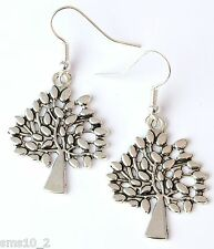 Hand Made Silver Colour Tree Earrings HCE321
