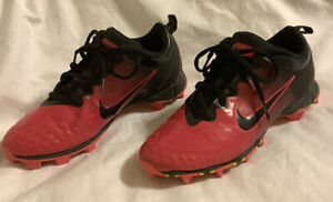 NIKE Pink Black Cleats ~ 856435-066 FastFlex Softball Soccer Size 5Y ~Girl Youth