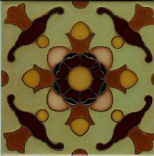 6x6 Decorative Tiles Hand Painted, Custom Colors Available.