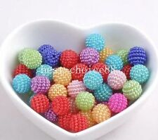 100pcs Mixed Imitation Pearl Round Beads For Europe Beads Jewelry making 10mm